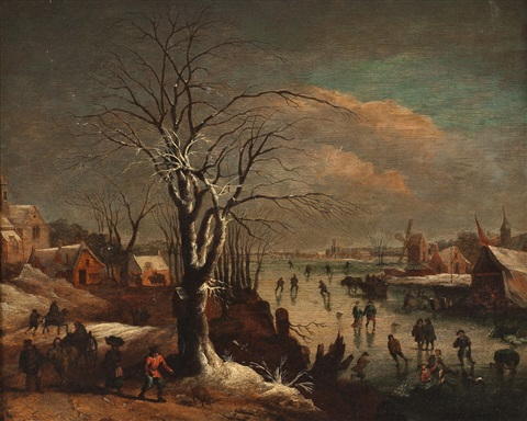 winterliche dorflandschaft by joos de momper the younger