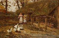 feeding the geese by thomas james lloyd