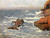 ogunquit seascape by john nichols haapanen