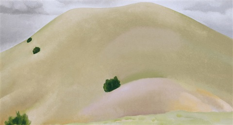 new mexico landscape and sand hills by georgia okeeffe