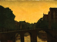 view of the brouwersgracht in amsterdam by eduard karsen