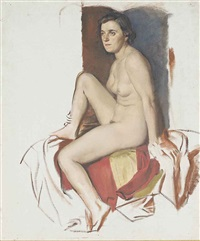 study of a female nude by victor hume moody