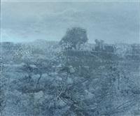 paysage bleu by jean batail