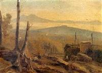 vue du sud de l'italie, arrière pays de naples by posillipo