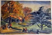 parc monceau by lou (lazar) albert-lazard