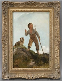 shepherd boy and his dog by james sant