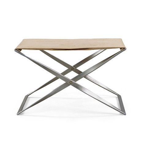 Surprising A Poul Kjaerholm Pk 91 Steel And Canvas Folding Stool By Camellatalisay Diy Chair Ideas Camellatalisaycom