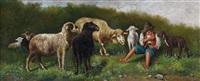 pastorello con gregge by simone campanile