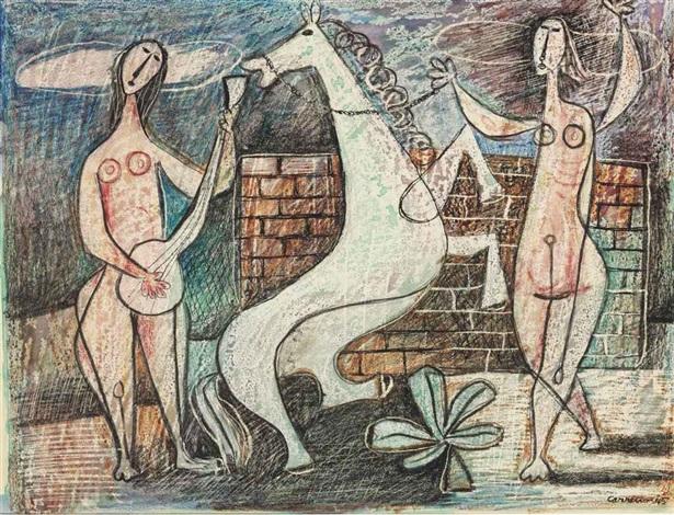 dancing horse by mario carreño