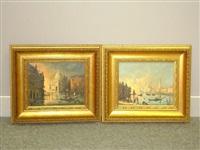 venetian scenes (pair) by gudrun sibbons