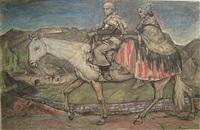 echtpaar te paard by emile gastemans