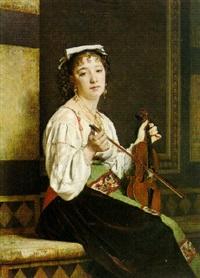 italian musician by pierre paul léon glaize