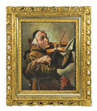 the jovial friar violinist by charles roka