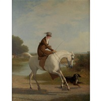 miss cazenove on her favorite hunter by jacques-laurent agasse