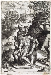 pietà (after michelangelo) by cherubino alberti