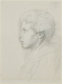 portrait (william whittington?) by alphonse legros