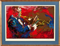 jazz trumpeter by leroy neiman