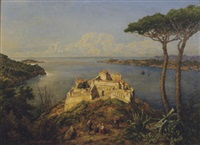 along the bay of naples by johann baptiste heinefetter