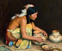 the pottery maker by eanger irving couse