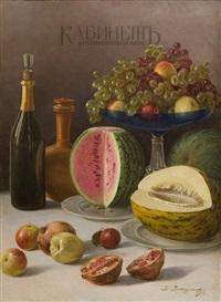 натюрморт с фруктами by viktor pavlovitch baturin