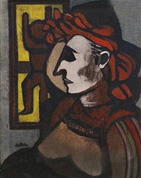 portrait of a woman by jankel adler