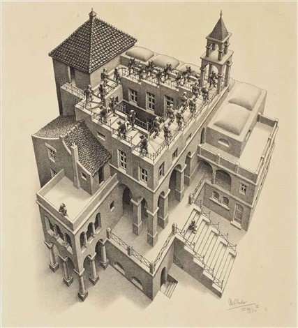 ascending and descending by m c escher