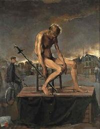 l'homme est nu (hommage à francis gruber) by luc simon