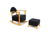 rocking chair and ottoman by roy mcmakin