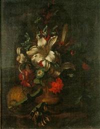 blomsterstilleben by karel borchaert voet