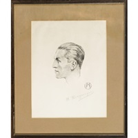 georges carpentier douze croquis (12 works) by marcel merignargues