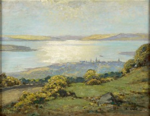 view of largs looking across the isle of cumbrae by robert eadie