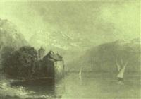veleros en un lago suizo by eduard buhler