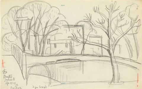 bloomfield james place bridge april 25 1921 by oscar florianus bluemner