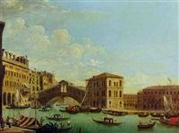 venedig; die rialtobrücke mit dem palazzo camerlenghi by jacopo fabris