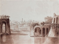 paysage d'italie by jean-baptiste antoine tierce