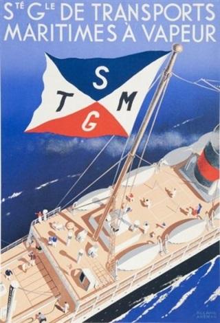 sté générale des transports maritimes à vapeur poster by roland ansieau
