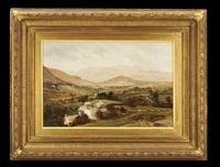 mountain village scene by edward henry holder