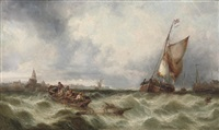 a heavy swell off boulogne by james burrell