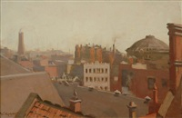 view of melbourne rooftops by alexander colquhoun