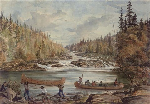 portage below rapids by william wallace armstrong