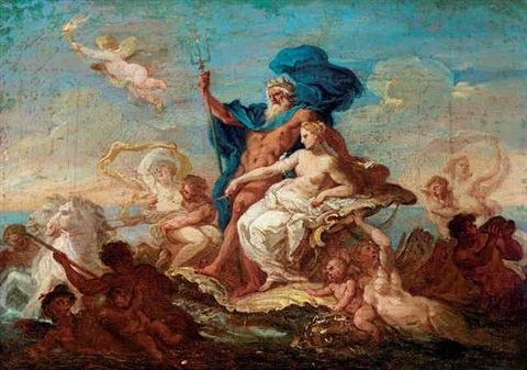 the triumph of neptune and amphitrite by sir james thornhill