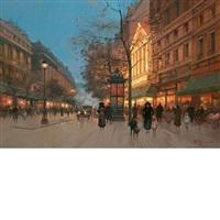 paris street scene by paul renard
