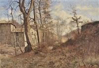 paysage à la ferme et au sous bois by theodore lespinasse