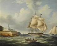 a british frigate off malta by richard b. spencer