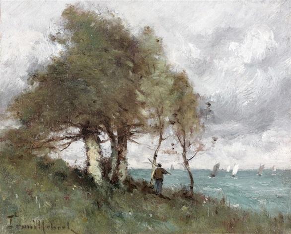pêcheur au bord de la mer normandie by paul désiré trouillebert
