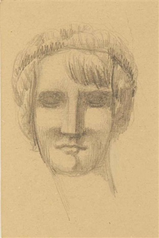 untitled female head by elie nadelman