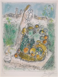 le grand corbeille by marc chagall