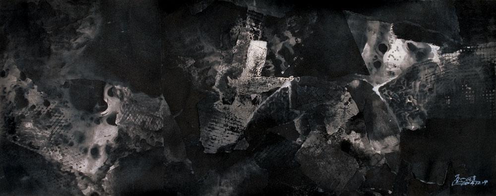 黑色空间的时间碎片 black space by liu zijian
