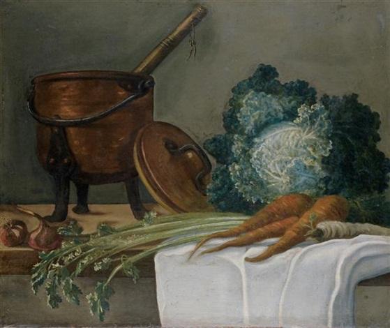 nature morte aux ustensiles de cuisine nature morte aux légumes faisans perdreaux rouges et bécasses pair by etienne jeaurat