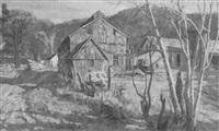 farm scene by frederick lester sexton